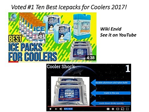 3X-Lg-ZeroF-Cooler-Freeze-Packs-10×14-No-More-Ice-Cooler-Shock-Replaces-Ice-is-Reusable-You-Add-Water-and-Save-12-pounds-total-Camping-Fishing-Picnics-Boating