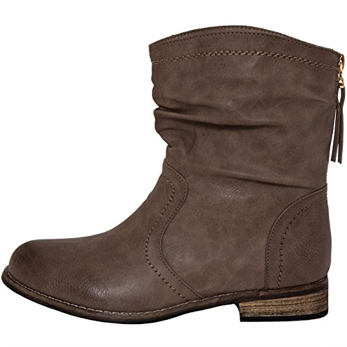 CASPAR Khaki Fashion CASPAR Boots Women's Fashion zd1Uq
