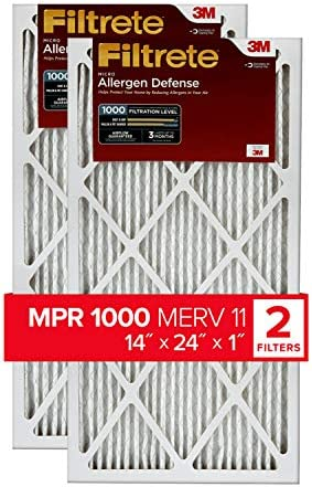Filtrete AD23–2pk-6e Air Filter, 14x 24x 1, 2er Pack