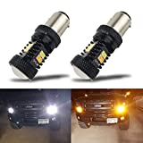 neon daylight running lights - iBrightstar Extremely Bright 3030 Chipsets 1157 2057 2357 7528 BAY15D P21/5W Switchback LED Bulbs with Projector Replacement for Daytime Running Lights / DRL and Turn Signal Lights,White/Amber