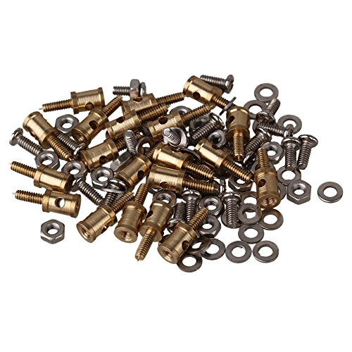 BQLZR 1.5mm Metal RC Model Pushrod Linkage Stopper with Screws Nuts and Gasket for RC Airplane Pack of 20