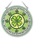 Amia Handpainted Glass Irish Suncatcher, 4-1/2-Inch
