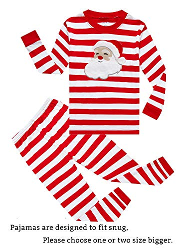 Family Feeling Little Girls Boys Long Sleeve Christmas Pajamas Sets 100% Cotton Pyjamas Toddler Kids Pjs Size 2T Santa Claus -
