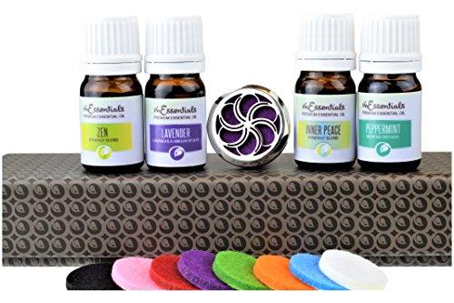 mEssentials Swirl Aromatherapy Car Air Freshener Essential O