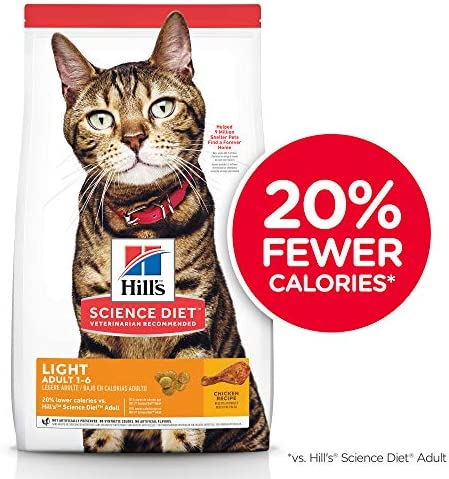 Hill s Science Diet Dry Cat Food, Adult, Light for Weight Management, Chicken Recipe