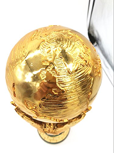 ao trophy 1:1 36cm World Cup Football trophy Resin Replica Trophies Model Brazil World Cup Best Soccer Fan Souvenir Gift (Football Trophies Resin)