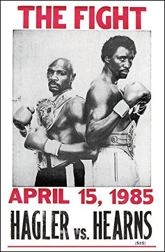 Hagler vs Hearns Fight Vintage Style Poster