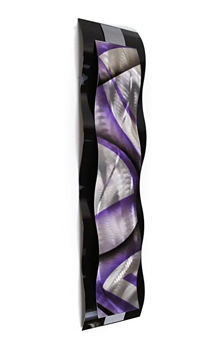 Amazon.com: Metal Wall Art Sculpture Purple Contemporary Metal Wall ...
