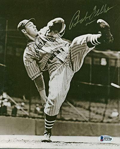 Bob Feller Signed Photograph - 8x10 Beckett BAS - Beckett Authentication - Autographed MLB Photos