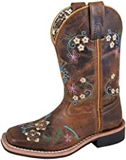 Smoky Mountain Girls' Floralie Western Boot Square