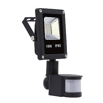 Hengda® 10W Blanco Cálido Foco proyector Exterior LED detección de ...