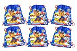 6-PACK, Paw Patrol Drawstring Sling Bags For Sale