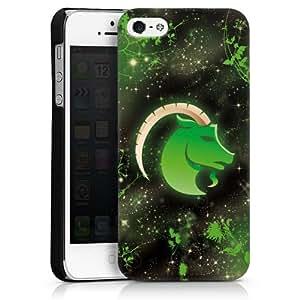 Carcasa Design Funda para Apple iPhone 5 HardCase black - The Sea-goat - Steinbock