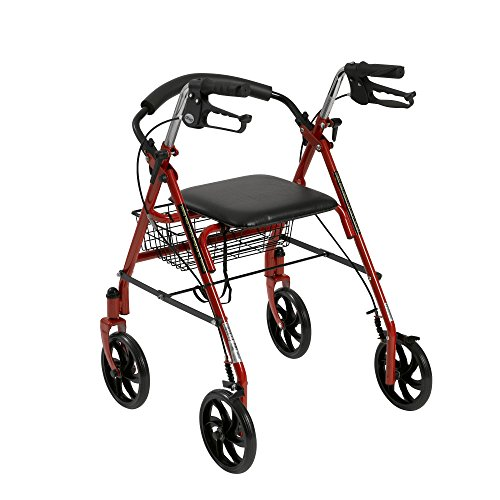 Drive Four Rollator with Removable Red