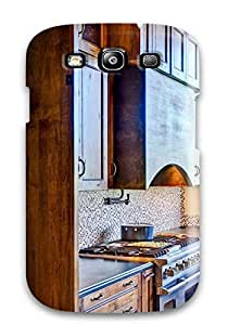 MMZ DIY PHONE CASEGalaxy S3 Case Cover - Slim Fit Tpu Protector Shock Absorbent Case (stained Wood Kitchen Cabinets And Range Hood)