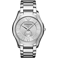 Emporio Armani Men's 'Dress Quartz Stainless Steel Casual Watch, Color:Silver-Toned (Model: AR11084