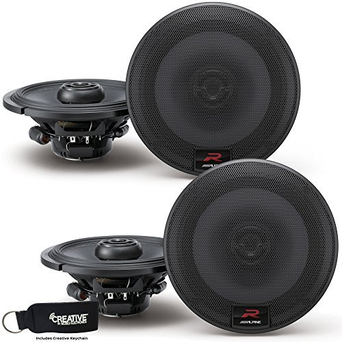 Alpine R-S65 Bundle - Two pairs of R-S65 6.5 Inch Coaxial 2-Way Speakers