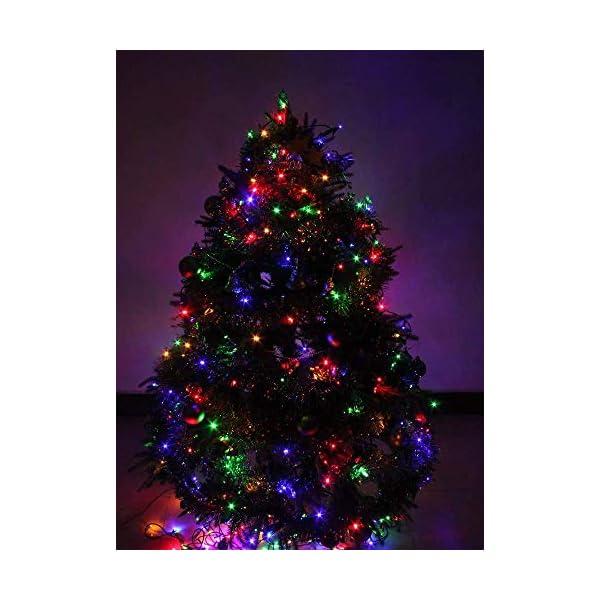 Cavo Verde Scuro Catena Luci A Led Luminoso Natalizia 500 Leds 52.8m Luce Lucciole Con Controller 8 Funzioni Ideale Per Natale Compleanni Feste (Multicolor Colori) 4 spesavip