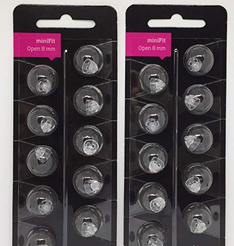 (Oticon Minifit Open 8mm Dome (20 PACK))