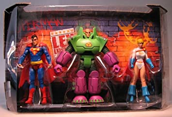 Mattel Superman/Batman Public Enemies Mini Figure 3-Pack Superman ...