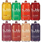 bubly Sparkling Water, Berry Bliss Sampler, 12 fl oz. Cans, (Pack of 18)