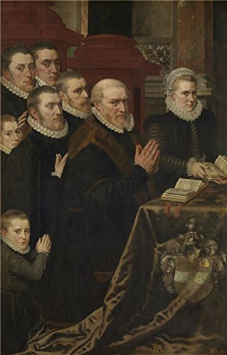 (Perfect Effect Canvas ,the Amazing Art Decorative Prints On Canvas Of Oil Painting 'Calvary And The Family Of Gillis De Smidt En Maria De Deckere, 1575 By Adriaen Thomasz Key',)