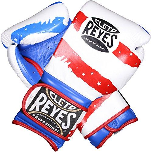 Cleto Reyes American Flag Hook & Loop Training Gloves - Red-White-Blue - 16 oz.