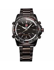 ++CANALOHA:)++ MAKO SHARK Stainless Steel Band LED Alarm Quartz Sport Men Gift Watch