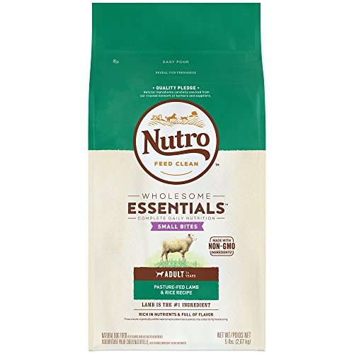 Nutro Wholesome Essentials Adult Dry Dog Food Small Bites Pasture-Fed Lamb & Rice Recipe, 5 Lb. Bag