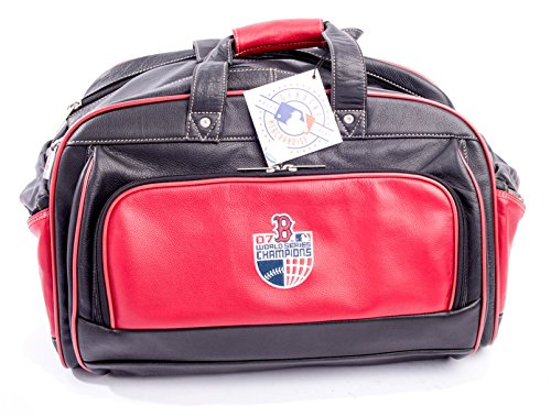 Boston Red Sox 2007 World Series Champion Deluxe Leather Duffel Bag ()