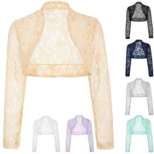 Belle Poque Women s Long Sleeve Floral Lace Shrug Bolero Cardigan JS49 0fc4f6fd4
