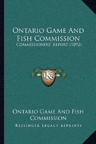 Ontario game and fish commission author profile news for Game and fish commission