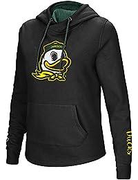 Womens NCAA Oregon Ducks Crossover Neck Hoodie (Team Color)