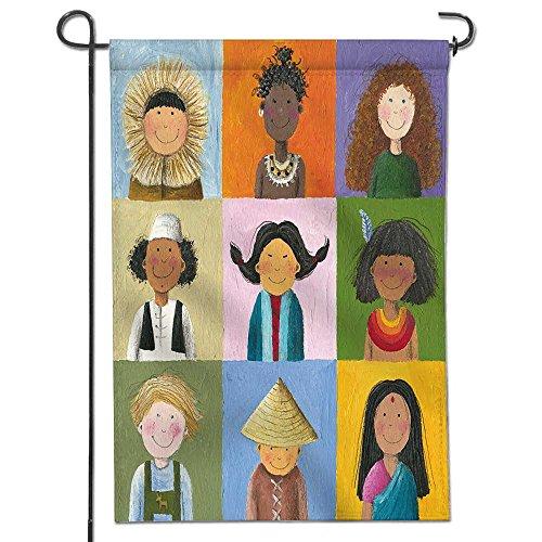 aolankaili Garden Flag Acrylic illustration of children of t