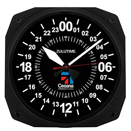 Trintec Cessna 24 Hour Square Military Time SWL Zulu Time 24Hr Wall Clock 10