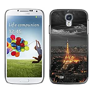 Impact Case Cover with Art Pattern Designs FOR Samsung Galaxy S4 Eifel Tower Paris City Tourist Night Clouds Betty shop