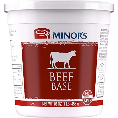 Minor's Beef Base, Beef Stock, Bouillon, Instant Bulk - Great for Soup, Sauce, No Added MSG, Zero Trans Fat, 16 oz ()