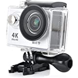 KuGi Ultra HD 4K Sport Action Camera WIFI 1080P 60fps HDMI 20MP+170 Degree Wide Viewing Angle 2.0 inch LCD Screen Waterproof Sport DV Camcorder with Accessories Kit for Extreme Outdoor Sports (Silver)