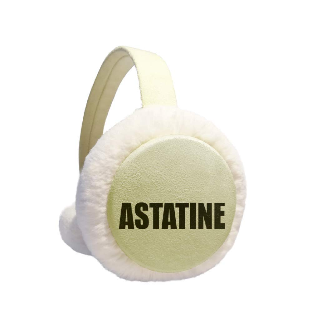 Astatine Element Name Chemistry Winter Warm Ear Muffs Faux Fur Ear