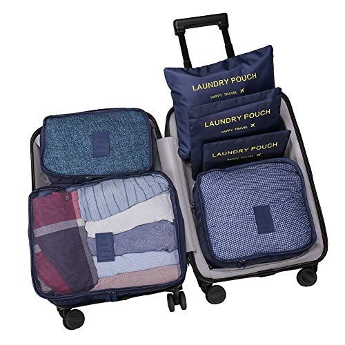 WOWTOY 6PCS Packing Cubes Value Set for Travel Luggage Organ...
