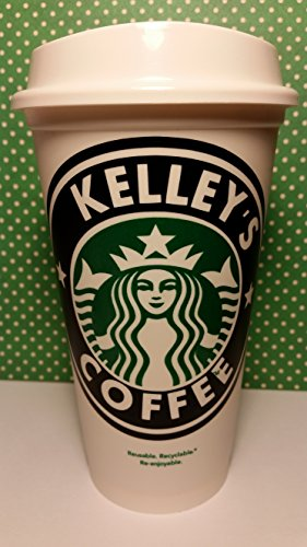 Piece of Cake Parties Personalized Reusable Starbucks Travel Coffee Tumbler (PERSONALIZE WITH ANY NAME)