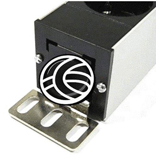 """Cablematic - Regleta de enchufes Rack 10"""" de 3 schuko con Interruptor de RackMatic"""