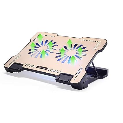 XINWEI PAD Base De Refrigeración para Ordenador Portatil - 1400RPM Fuerte Viento - Altura Ajustable -