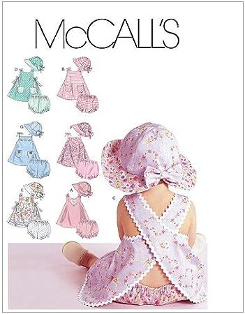 McCalls 6303 - Patrón de Costura para Confeccionar Ropa de bebé ...