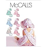 mccall's patterns m6303 infants' dresses, panties and hat, all sizes by mccall's patterns