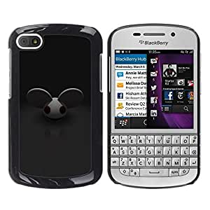 TECHCASE**Cubierta de la caja de protección la piel dura para el ** BlackBerry Q10 ** Mouse Big Ears Rodent Cartoon Character Cute