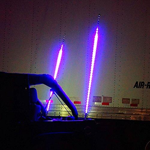 Buy Lights Online Nz: GENSSI 5FT LED Whip Light W/ Flag 30 Modes RGB Color