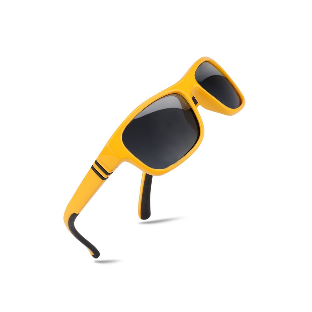 Multicolored HD Polarized Child Eyewear Cool Safety Wrap Around Frame Casual Style Lightweight Glasses