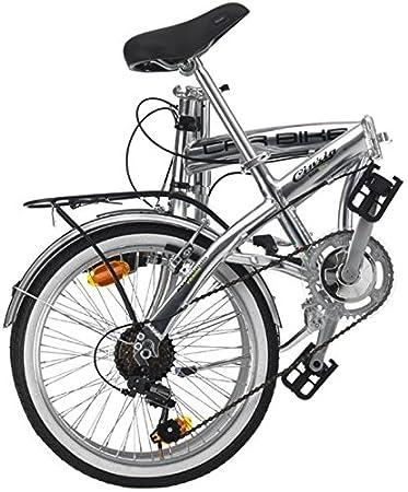 Bicicleta plegable ciclos Cinzia Car Bike Aluminium, estructura de aluminio, cambio 6 velocidades, ruedas de 20, talla 31, Hombre, Argento Lucido: ...