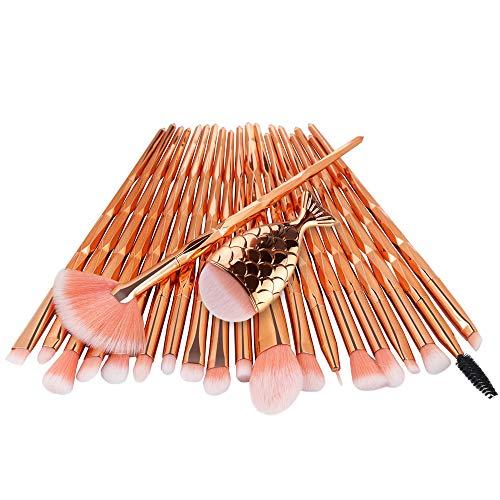 ❤️ Sunbona Clearance Sale MAANGE 21PCS Make Up Foundation Eyebrow Eyeliner Blush Cosmetic Concealer Brushes (C)